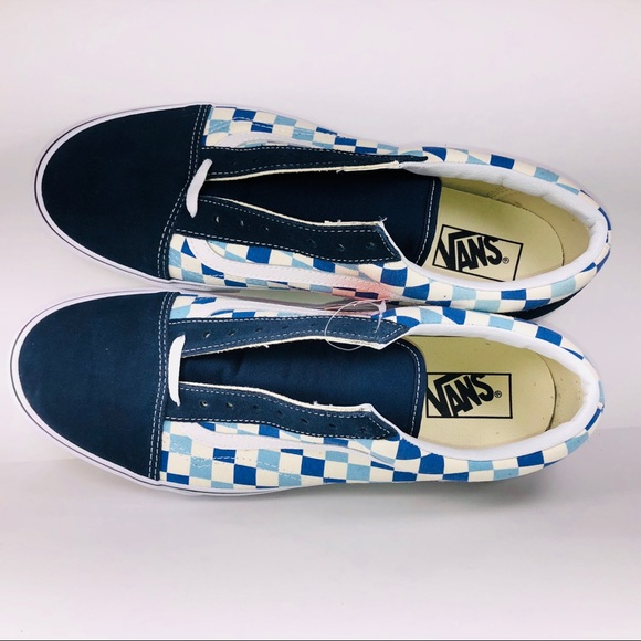 ce47277bcfb6e1 VANS Old Skool Checkerboard Blue Topaz Sneakers